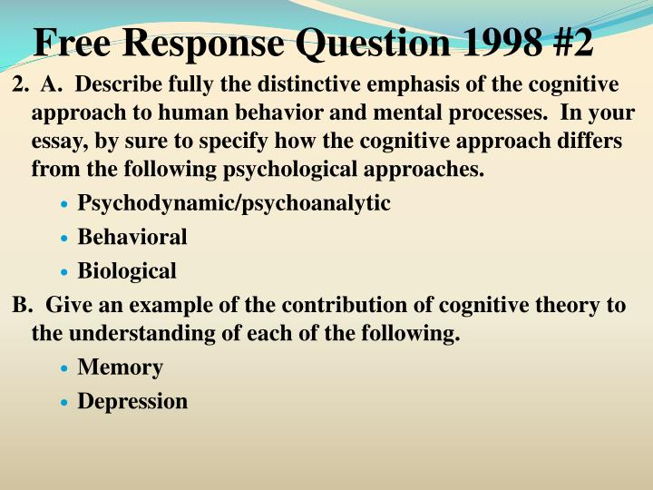 Free Response Question 1998 #2