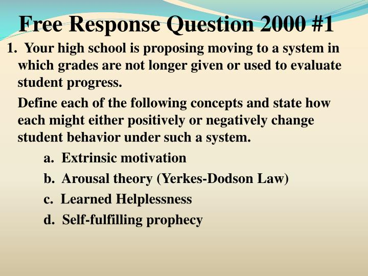 Free Response Question 2000 #1