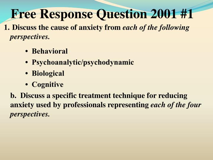 Free Response Question 2001 #1