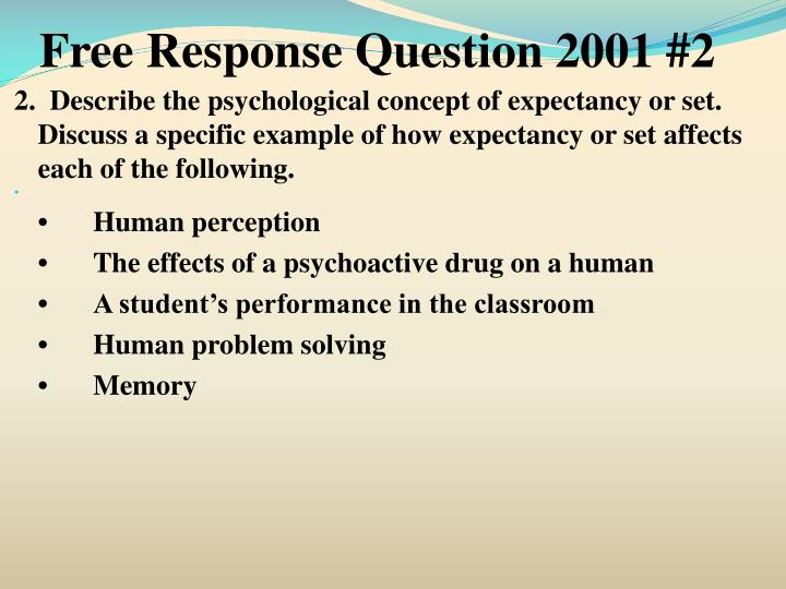 Free Response Question 2001 #2