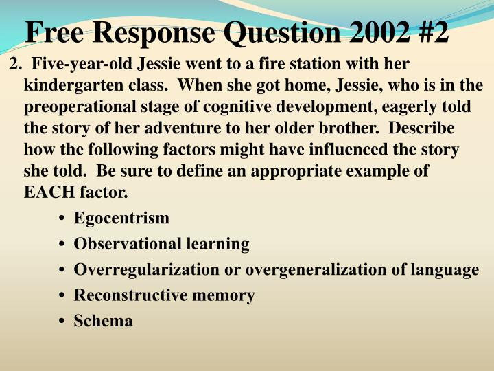Free Response Question 2002 #2