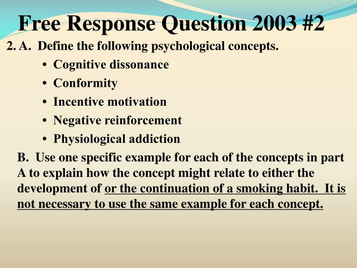 Free Response Question 2003 #2