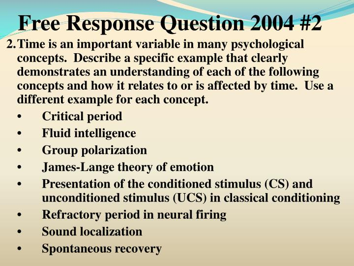 Free Response Question 2004 #2