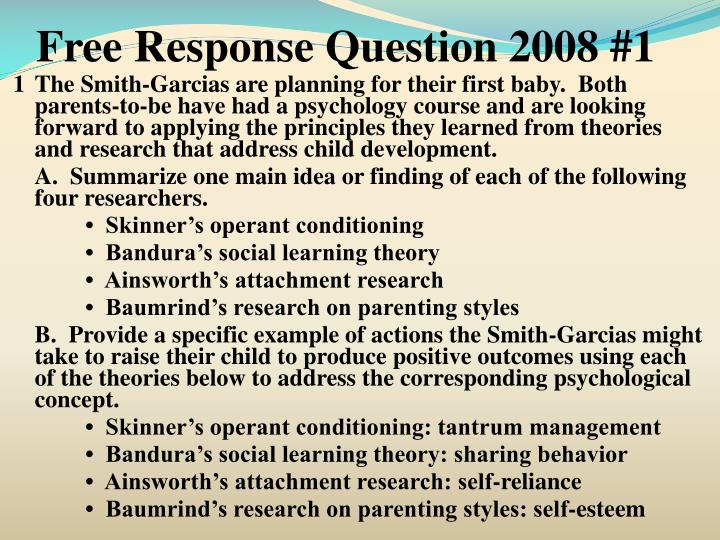 Free Response Question 2008 #1