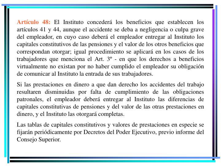 Artículo 48: