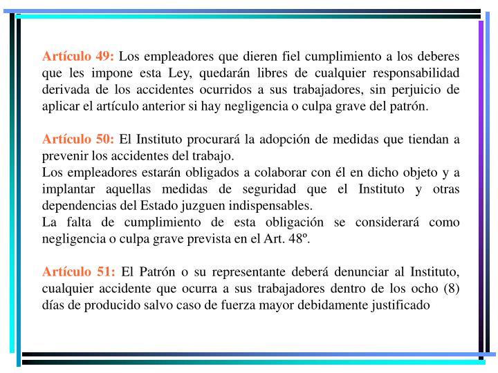Artículo 49: