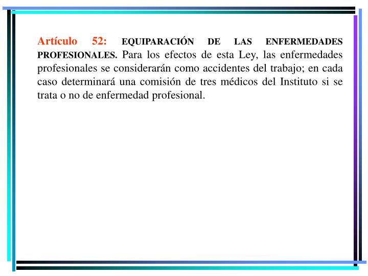 Artículo 52: