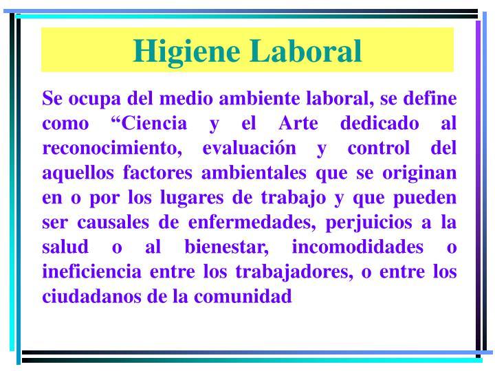 Higiene Laboral