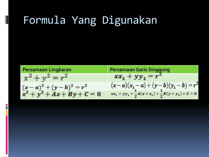 Formula Yang