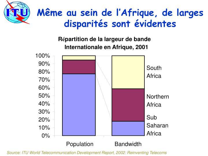 Même au sein de l'Afrique, de larges disparités sont évidentes
