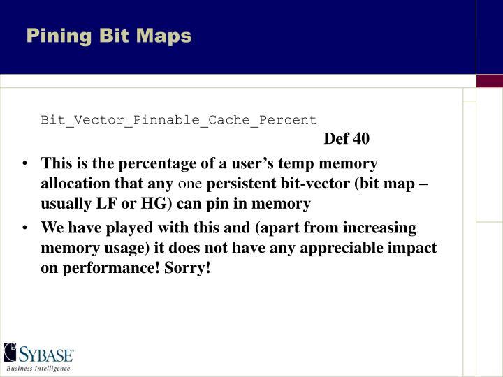 Pining Bit Maps