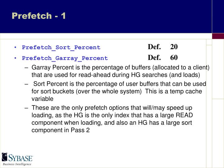 Prefetch - 1