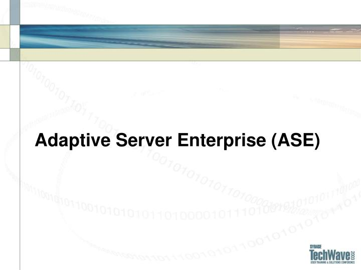 Adaptive Server Enterprise (ASE)