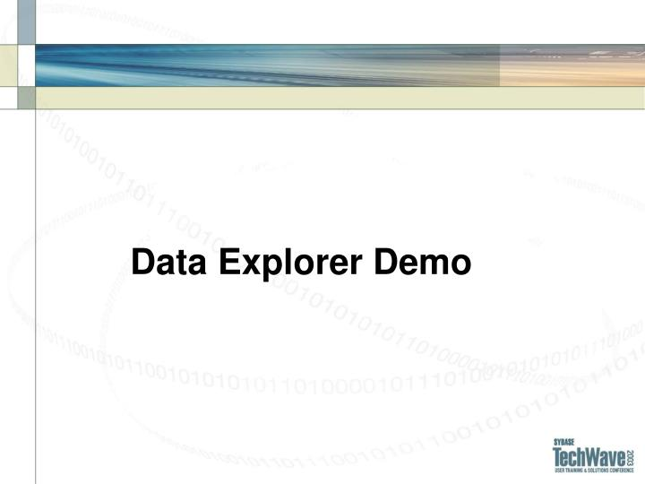Data Explorer Demo