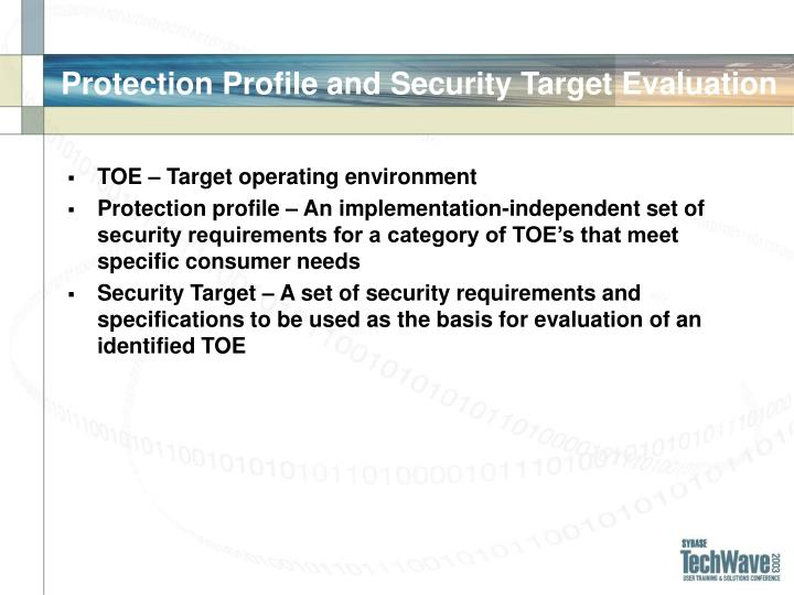 Protection Profile and Security Target Evaluation