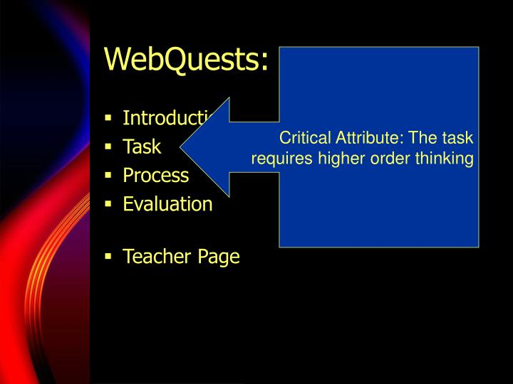 WebQuests: Major Parts
