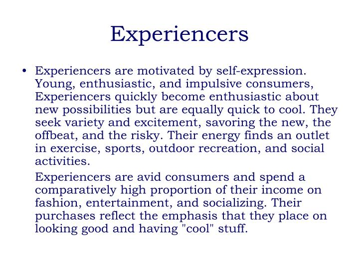 Experiencers