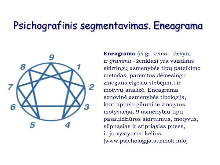 Psichografinis segmentavimas. Eneagrama
