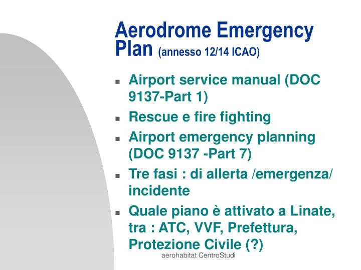 Aerodrome Emergency Plan