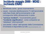 incidente maggio 2000 md82 inchiesta enac