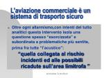 l aviazione commerciale un sistema di trasporto sicuro