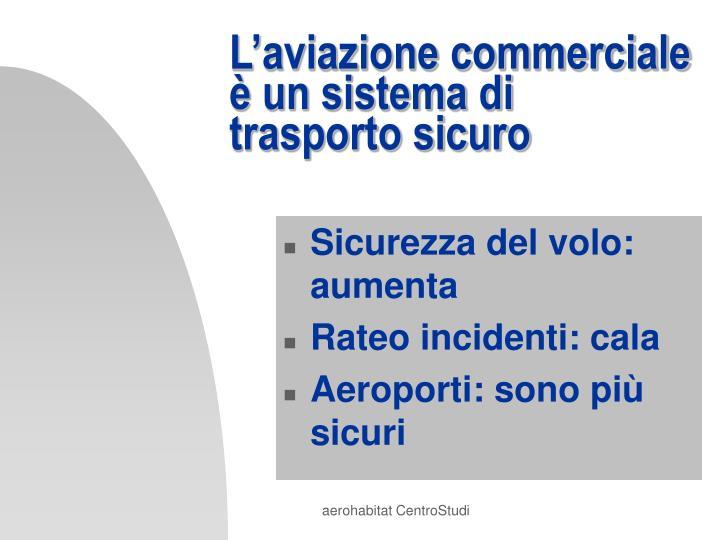 L'aviazione commerciale è un sistema di trasporto sicuro