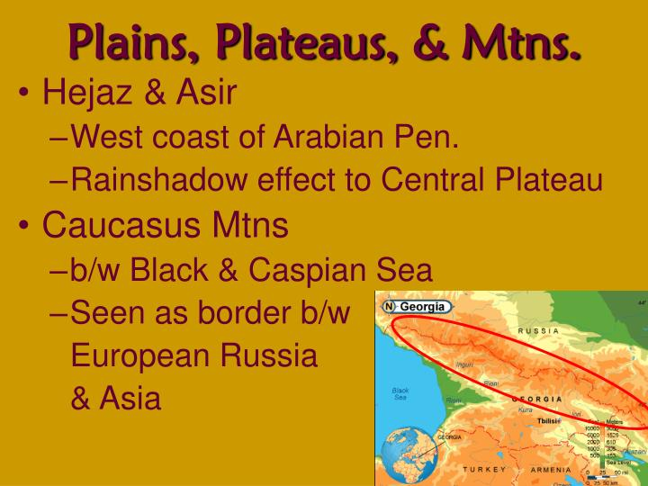 the many coastal plains ans mountain ranges in israel
