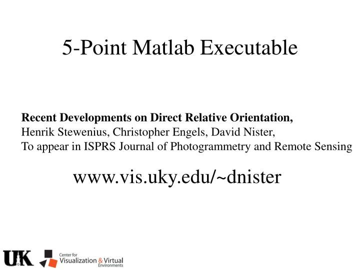 5-Point Matlab Executable