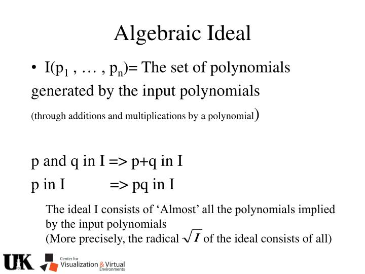 Algebraic Ideal