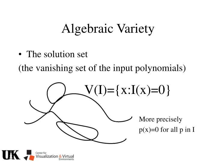 Algebraic Variety