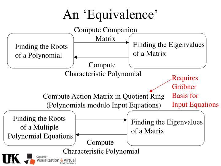 An 'Equivalence'
