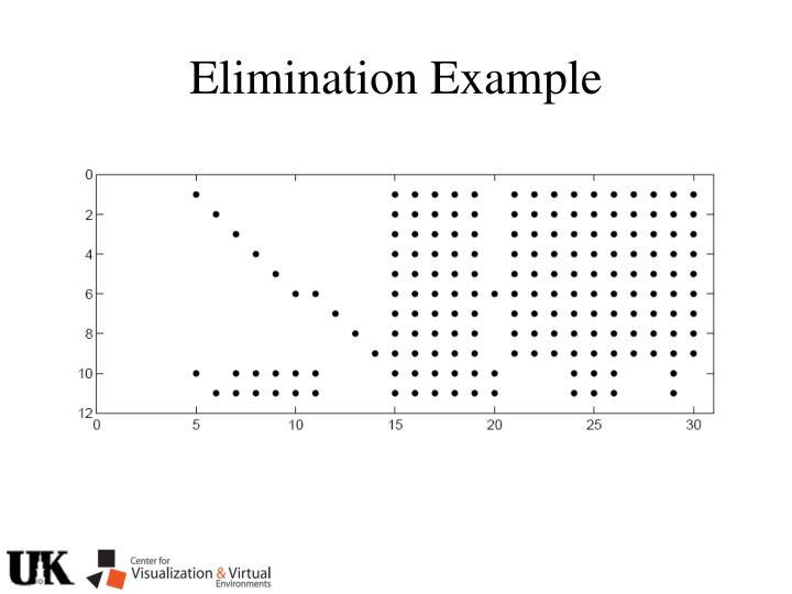 Elimination Example