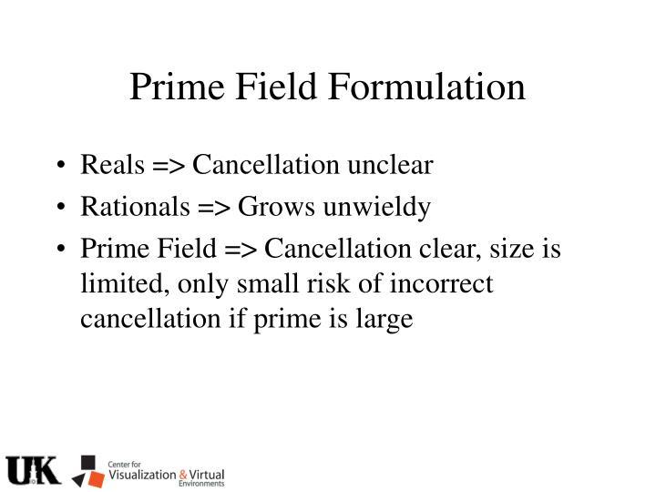 Prime Field