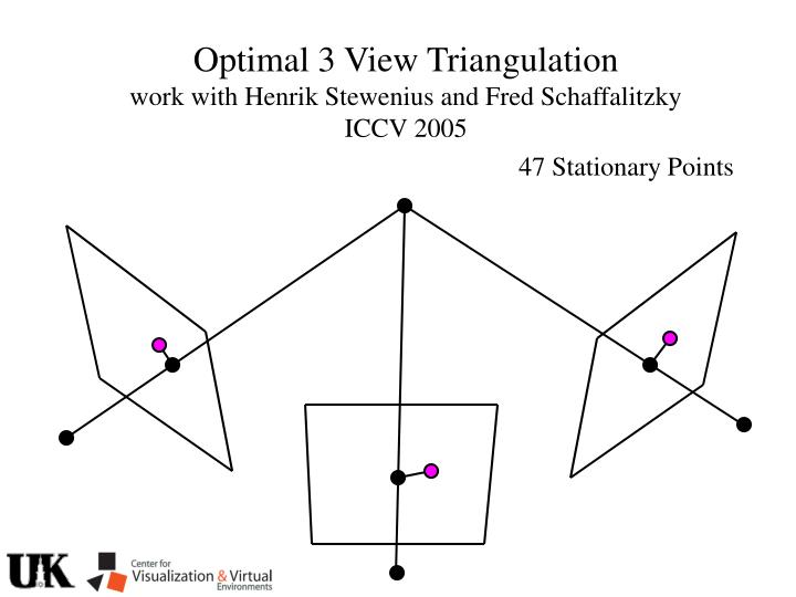 Optimal 3 View Triangulation