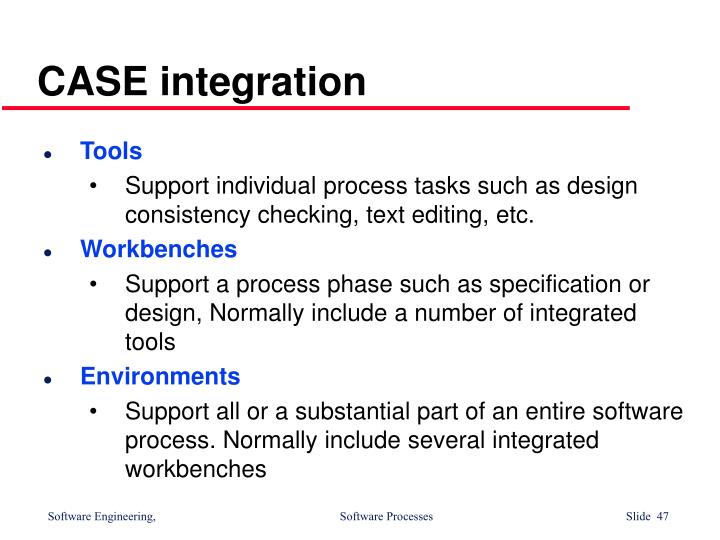 CASE integration