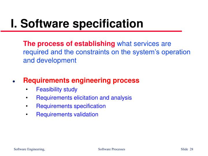 I. Software specification