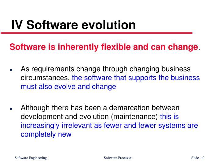 IV Software evolution