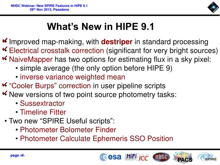 What's New in HIPE 9.1