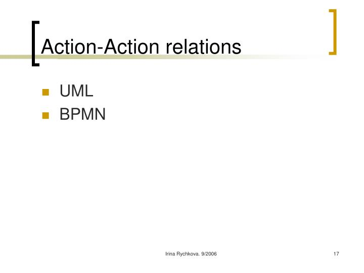 Action-Action relations