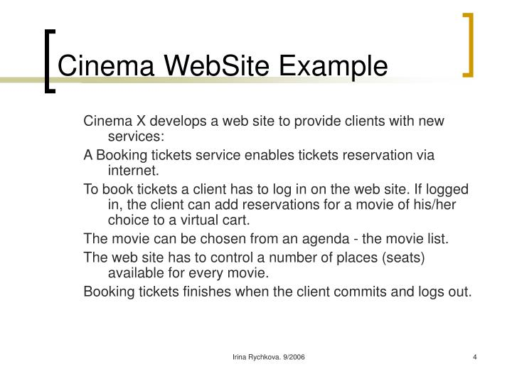 Cinema WebSite Example