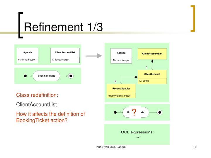 Refinement 1/3