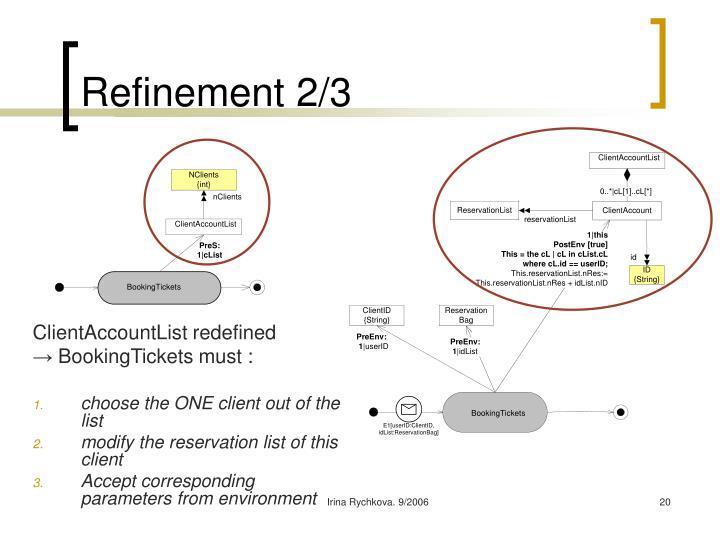 Refinement 2/3
