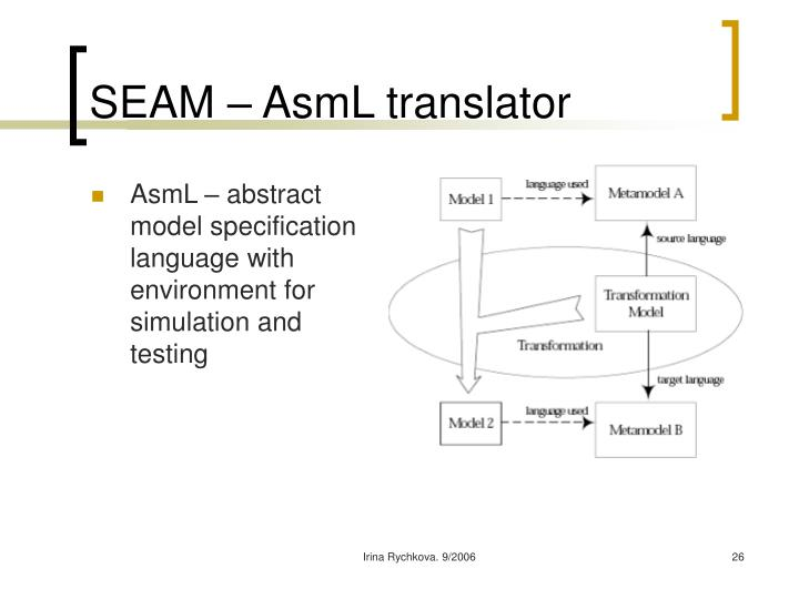 SEAM – AsmL translator