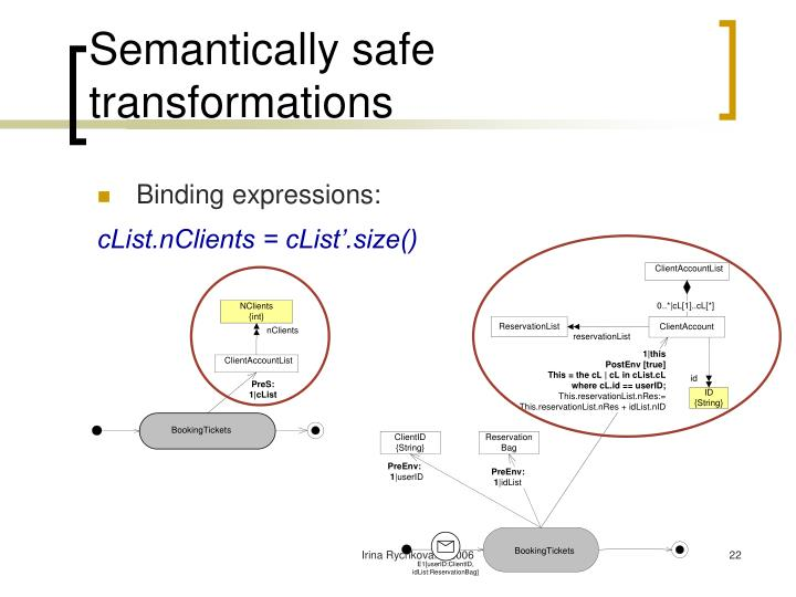 Semantically safe transformations