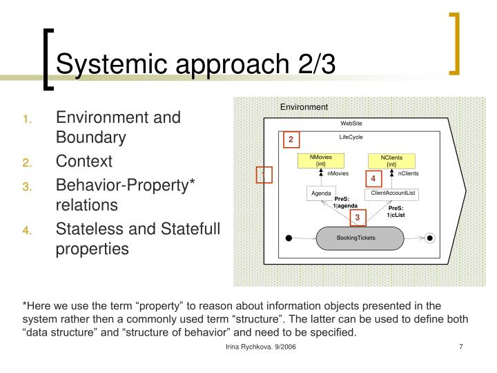 Systemic approach 2/3