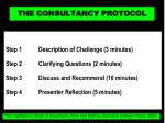 the consultancy protocol4
