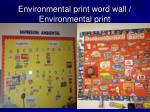 environmental print word wall environmental print