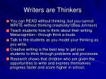 writers are thinkers
