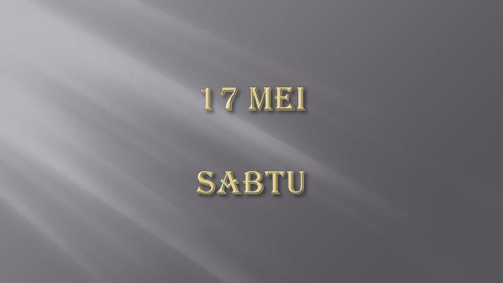 17 Mei