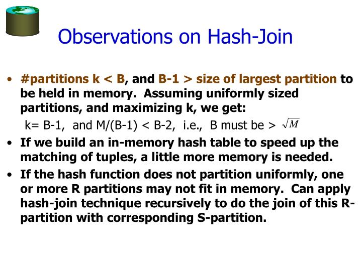Observations on Hash-Join